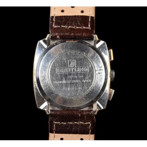 37 - Breitling gentleman's Top Time chronograph wristwatch, c.1970, signed chromed sunburst case No 2006-...