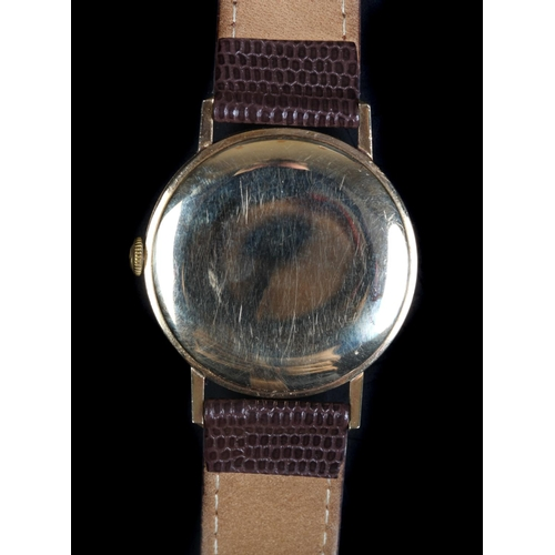 42 - A Buren Super-Slender 9ct gold gentleman's wristwatch c.1965, automatic, cream dial, gilt batons and...