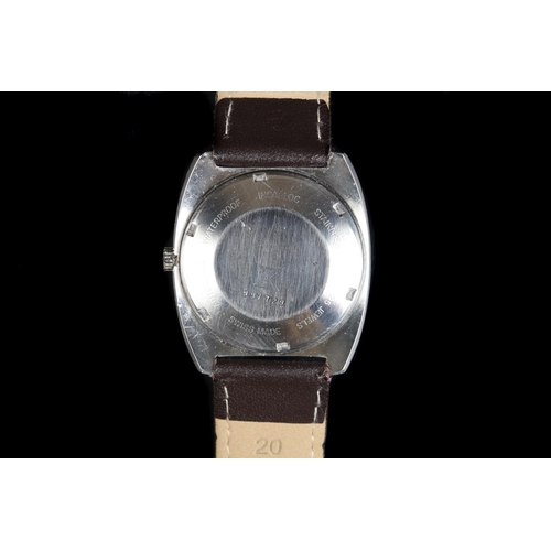 56 - An Edox gentleman's Ferex Hydromatic stainless steel wristwatch, c.1965, automatic jewel lever movem...
