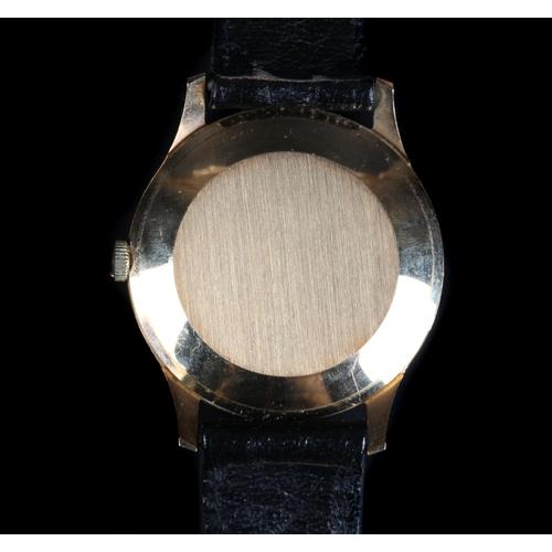 58 - An Excalibur gentleman's 9ct gold wristwatch, c.1974, manual 17 jewel lever movement, silvered sunbu...