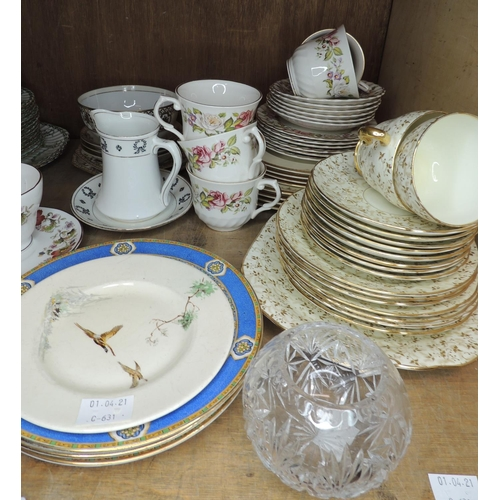 55 - A quantity of decorative ceramics including Victorian and later tea ware, various manufacturers, cut...