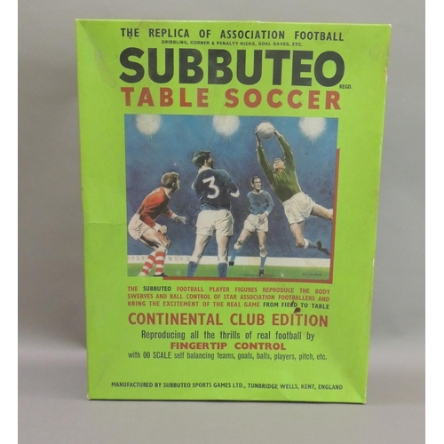 57 - A Subbuteo table soccer game - Continental club edition, boxed