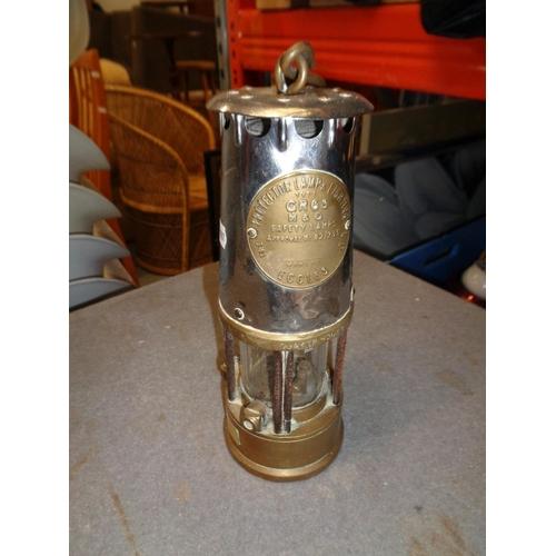 177 - Brass Miners Lamp (24cm Tall)