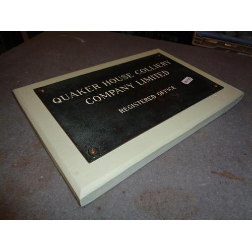 178 - Brass Colliery Plaque on Wooden Plinth (30cm x 20cm)