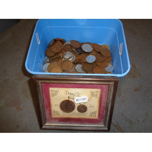 179 - Old Coin Collection & Penny Farthing Mounted Coin