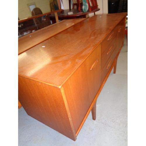 212 - Mid Century Teak Sideboard (153cm x 45cm x 73cm high)