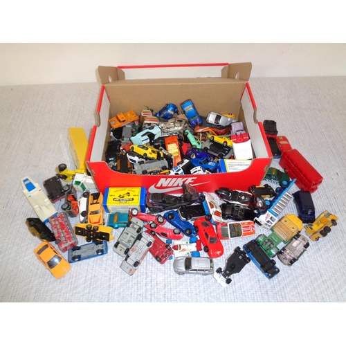 113 - Box Of Play Worn Toy Cars