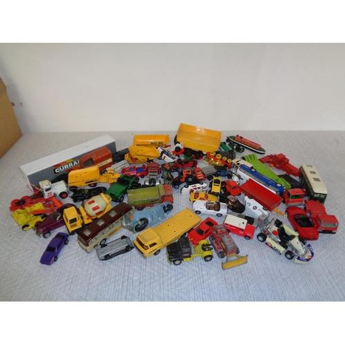 115 - Box Of Play Worn Toy Cars - Dinky & Corgi Etc