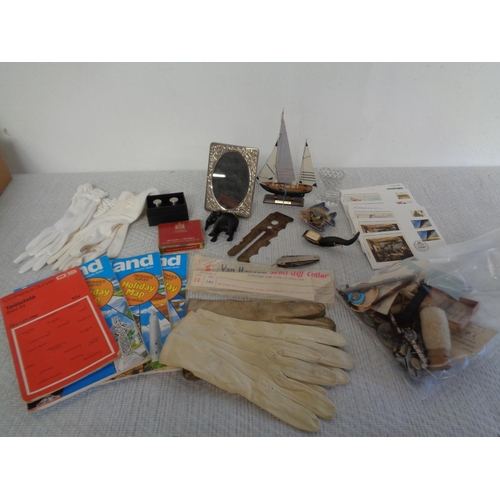 117 - Mixed Lot Of Vintage Collectables Inc Girl Guide Penknife & Watch Parts