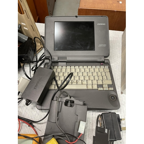 60 - Assorted Electricals Inc Compaq Early Laptop (A/F)