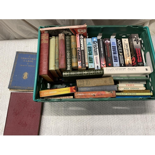 115 - CRATE OF ASSORTED BOOKS