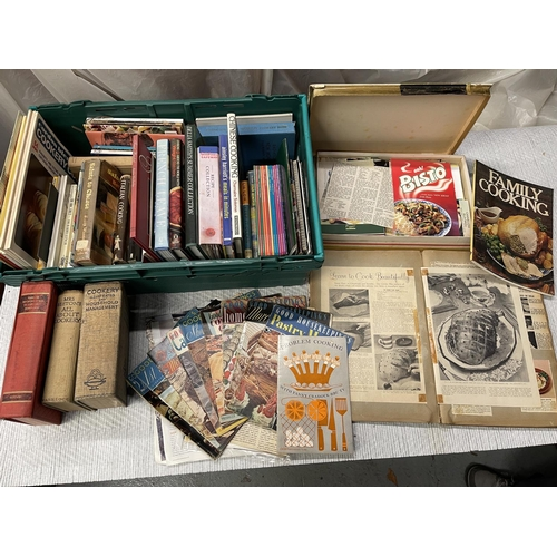 116 - RETRO COLLECTION OF 1960/70/80S COOKBOOKS, SCARPBOOKS