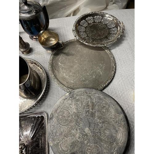 150 - MASSIVE LOT OF SILVER PLATE, EPNS & ALPHA PLATE