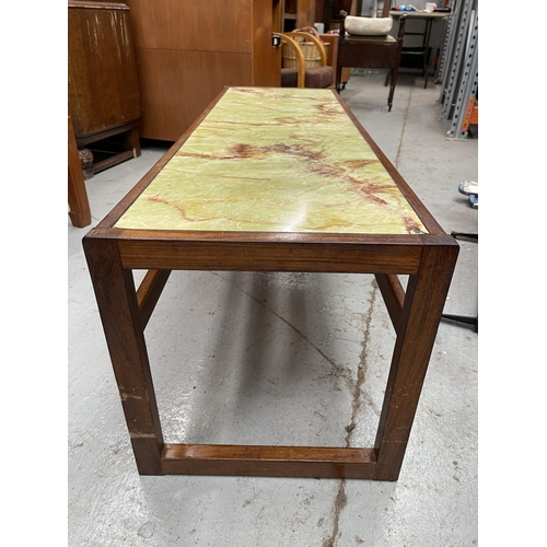 187 - 1970s MARBLE TOPPED OBLONG COFFEE TABLE
