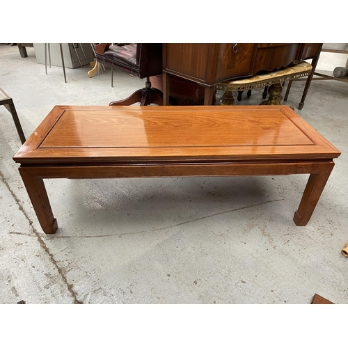 188 - CHERRY WOOD OBLONG COFFEE TABLE