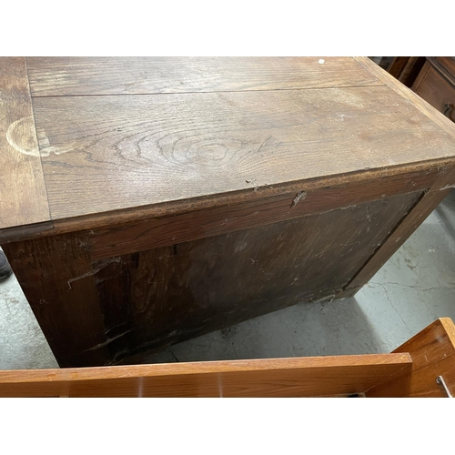 205 - WOODEN SQUARE BOX WITH HINGED LID