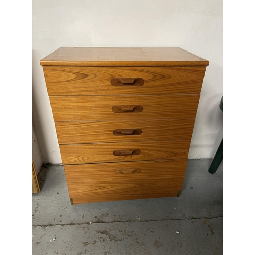 243 - 1970s  CHEST OF DRAWERS
