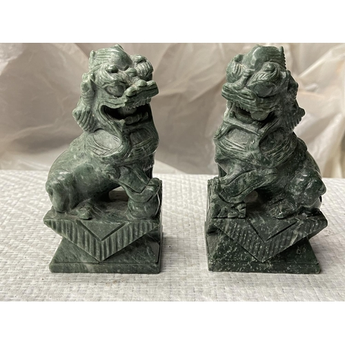 55 - PAIR OF CHINESE FOO DOGS 6