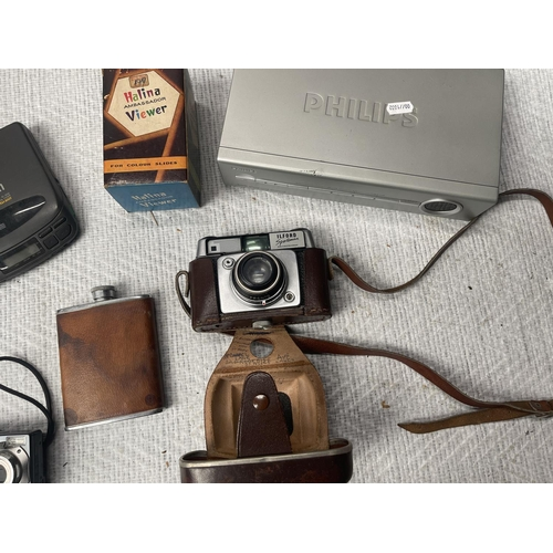 75 - SELECTION OF CAMERAS & OTHER ASSORTED ELECTRICALS