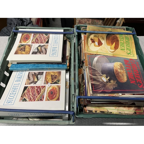 41 - 2 X CRATES OF VINTAGE COOKWARE & BAKING LITERATURE