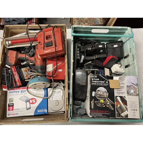7 - 2 X CRATES OF MIXED ELECTRICALS