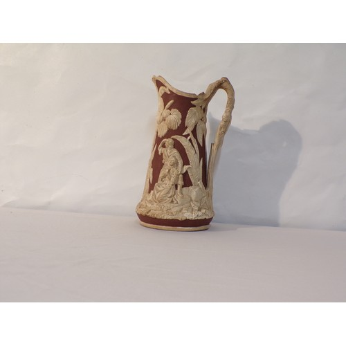 13 - early 19th century jug white clay Dale Hall Longport...