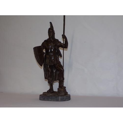 18 - bronze greek c 1960s HODILITE WARRIOR with sword (rarer) american...