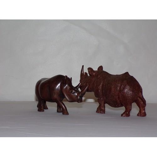 24 - African art rhinos...