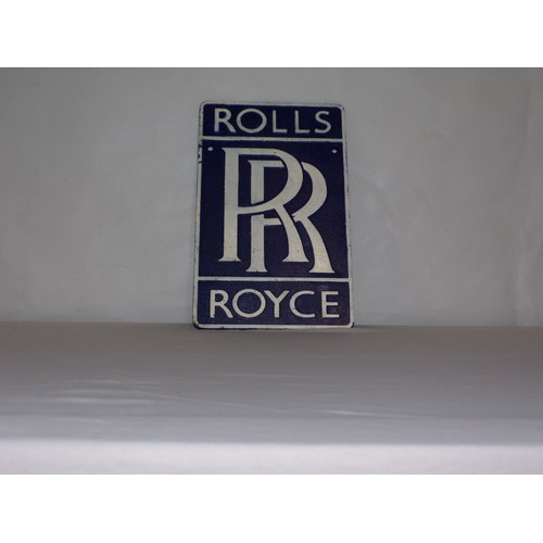 32 - Rolls Royce cast iron sign heavy...