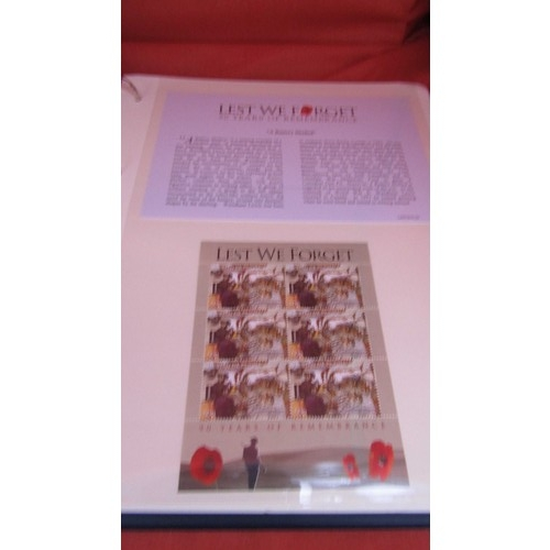 3 - LEST WE FORGET CERTIFIED CERTIFICATE NUMBER 0324. CONTAINS 18 PAGES STAMPS AND COIN COVER COLLECTION...