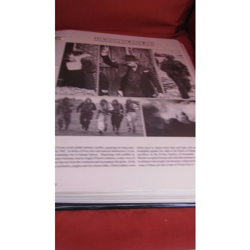2 - THE HISTORY OF WWII , 29 PAGES COMPLETE FIRST DAY COVER AND STAMP  ALBUM...