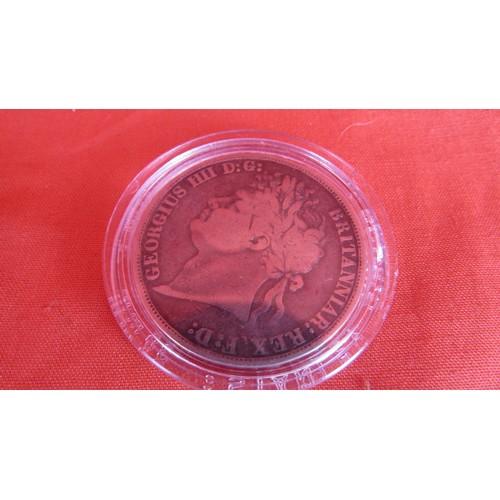16 - 1889 CROWN FINE COIN IN CASE...