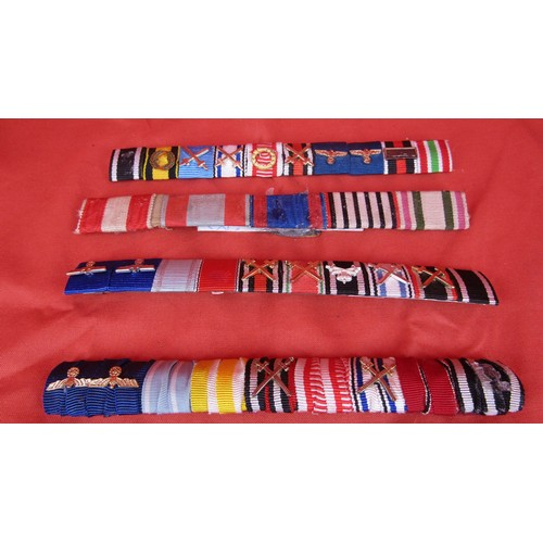 15 - 4 X MILITARY RIBBON BARS...