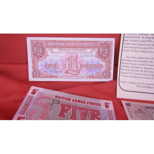 43 - BRITISH MILITARY CURRENCY ISSUED BETWEEN 1950-1979 IN THE SET ARE UNCIRCULATED EXAMPLES OF THE ONLY ...