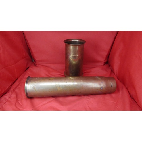 34 - 1 X WW1 1917 GUN SHELL AND ONE OTHER...