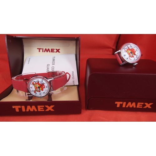 46 - 2 X BOXED VINTAGE TIMEX WATCHES 1 IS WITHOUT A STRAP IN W/O...