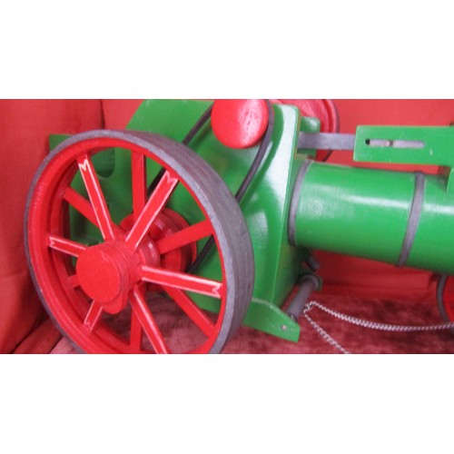 15 - A LARGE RARE SCRATCH BUILT MODEL OF TRACTION ENGINE WOODEN...