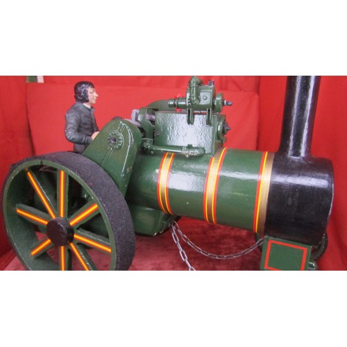 20 - A LARGE RARE SCRATCH BUILT MODEL OF TRACTION ENGINE METAL...