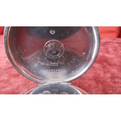 26 - LONGINES 1905 ,15 JEWELS,LEVER  GRAND PRIX PARIS 0.800 SILVER POCKET SWISS  WATCH W/O...