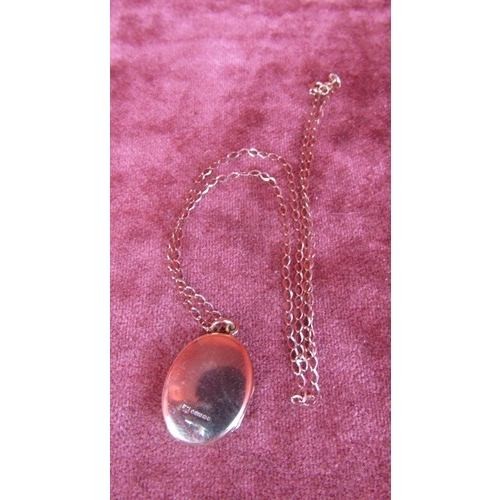 52 - 9CT GOLD LOCKET AND CHAIN...