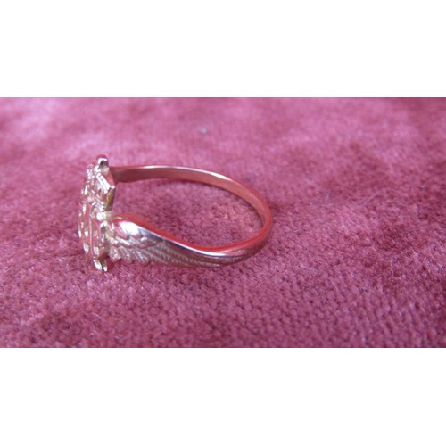 30 - 9CT GOLD R A F RING WITH INSCRIPTION INSIDE SIZE K...