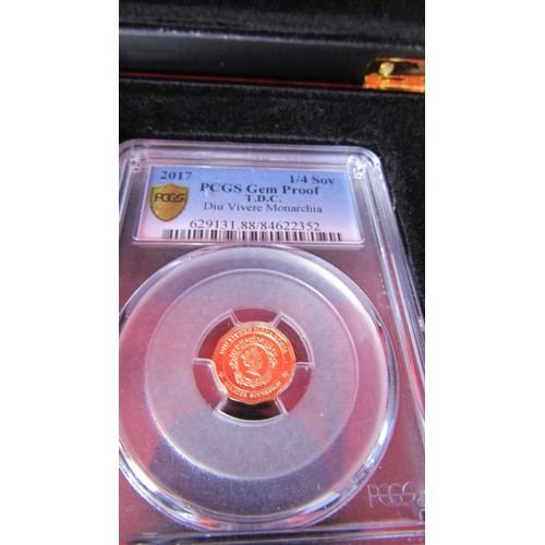 23 - GRADED AND AUTHENTICATED BY PCGS . THE COINS IN THE  SET ACCOMPANYING THE CERTIFICATE ALL RECEIVED T...