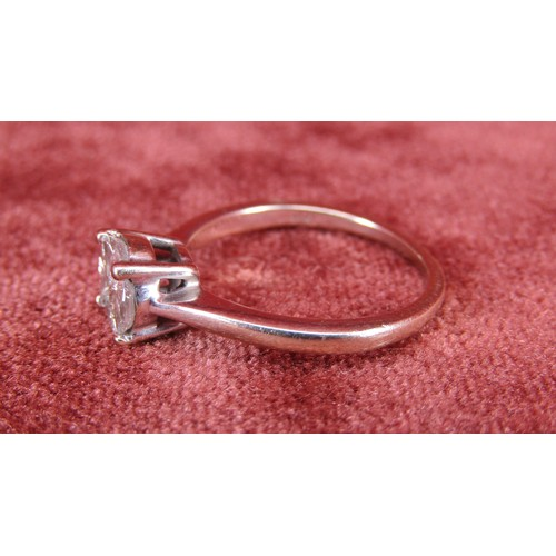 1 - 18 CARAT WHITE GOLD RING OVER A CARAT OF DIAMONDS SIZE M