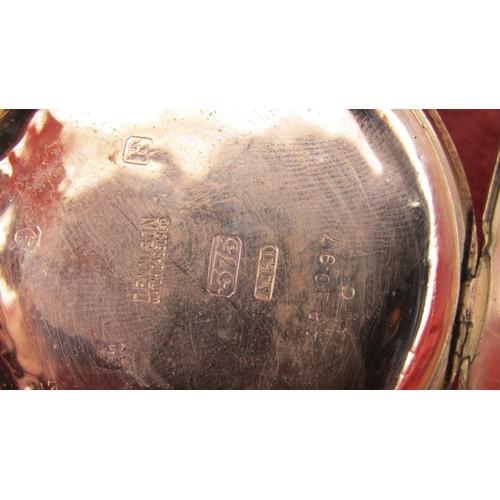 4 - DENNISON WATCH CASE & CO LTD 17 JEWELS  9CT GOLD POCKET WATCH IN W/O