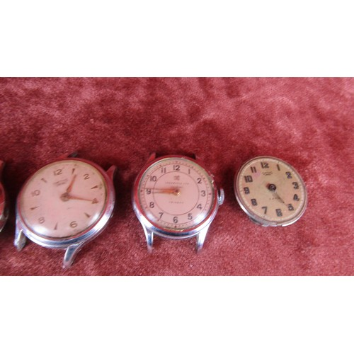 24 - 5X VINTAGE WATCHES A/F INCLUDING INGERSOLL LTD