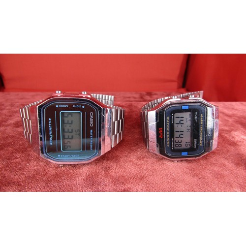 25 - 2X VINTAGE CASIO WATCHES IN W/O