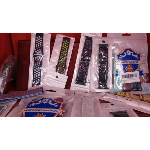 29 - A LARGE COLLECTION OF WATCH STRAPS STILL IN PACKAGING