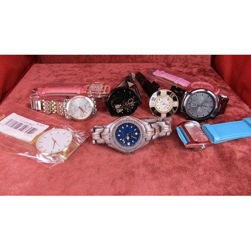 31 - A JOB LOT OF 9  WATCHES A/F