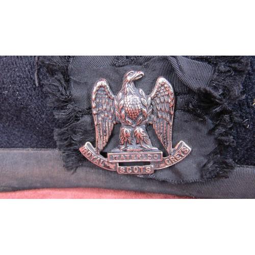 59 - WATERLOO ROYAL SCOTS GREYS EAGLE CAP