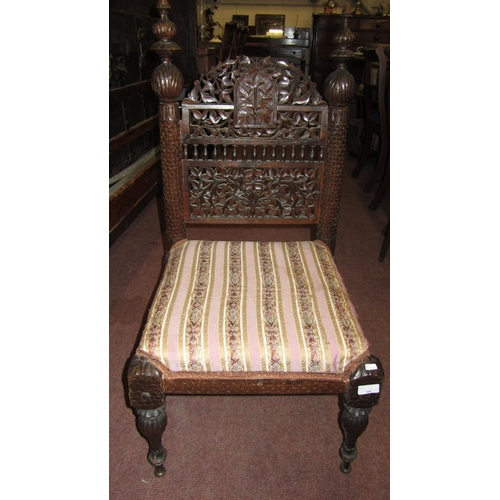 328 - CARVED ANTIQUE CHAIR...